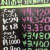 4月27日の金プラチナ買取価格