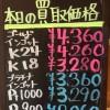4月13日の金プラチナ買取価格