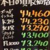 10月28日の金プラチナ買取相場イカにッ!!