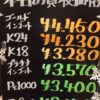 12月13日の金プラチナ買取価格を更新いたしました!